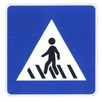 Quality Customized Crosswalk Sign Board Reflective Film and Stainless steel Traffic Sign Sheet wholesale