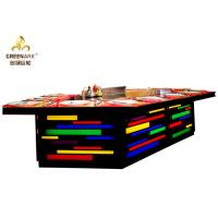 Quality Bridge Shape Rainbow Color Gas Teppanyaki Grill Table With Exhaustion System wholesale