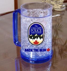 Quality plastic beer mug PS material beer mug custom LOGO ICE BEER MUG wholesale
