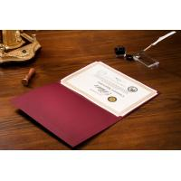 Quality Horizontal / Vertical Version Certificate Presentation Folders Parchment Material Made wholesale