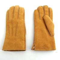 China Lambskin Fashion Womens Soft Leather Gloves Plain Style For Hands Warm on sale