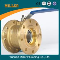 Quality MILLER 1 inch China wholesale high quality flange brass ball valve ml-1401 wholesale