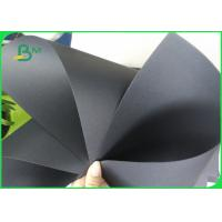 China 80 - 450gsm Ivory Board Paper / Single double Black Cardboard for Storage Box Making on sale