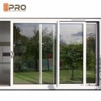 Quality America Style Aluminum Single Tempered Glass Windows And Door Anti - Aging wholesale