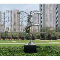 Quality Contemporary Lawn And Garden Ornaments Statues Abstract Stainless Steel Sculpture wholesale