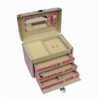 Buy cheap Jewelry Box, 6 Apartments with Mirror, OEM Orders are Welcome from wholesalers