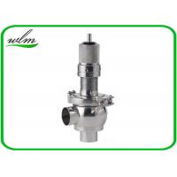 China Butt Weld Sanitary Pressure Relief Valve with Spring Return Configuration , Slight Opening on sale