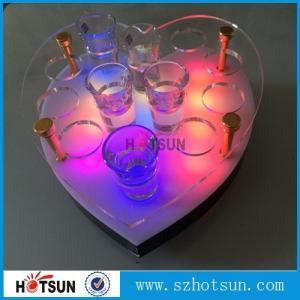 Cheap Acrylic Wine Glass Tray Holder/ led acrylic shot glass tray,Acrylic Shot glass for sale
