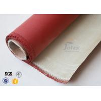 Cheap 0.8mm 700gsm Red Silicone Coated High Silica Fabric Cloth For Fire Blanket for sale