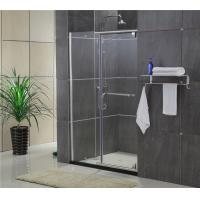 Quality Sliding Screen Pivot Shower Doors Self - Cleaning Glass With F Shape Handle wholesale