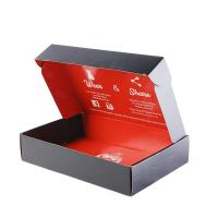 Quality Black T Shirt Packaging Boxes , Handmade Paper Board Apparel Gift Boxes wholesale