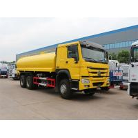 China Yellow 6x4 18m3 Tanker Truck Water Sprinkler Truck With HW76 Lengthen Cab on sale