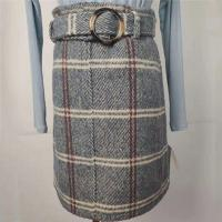 Thickened Women's High Waisted Plaid Skirt Anti Static For Autumn / Winter