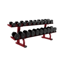 Quality Commercial Heavy Duty Gym Equipment Two Tier Dumbbell Rack For Ten Pairs wholesale