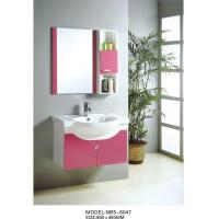 Quality PVC bathroom vanity / wall mount cabinet / hung cabinet / pink color for bathroom 80 X45/cm wholesale