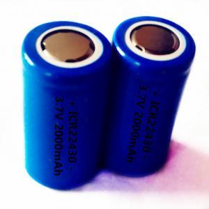 Quality ICR22430 3.7V 2000mAh li-ion rechargeable battery wholesale