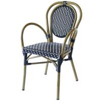 Quality Non Perishable French Bistro Rattan Garden Dining Chairs wholesale