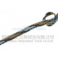 China 4mm Round High Temp Wire Sleeve , Braided Heat Resistant Sleeve For Cable on sale