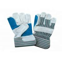 Quality Heavy Duty Leather Safety Gloves Stripe Cotton Fabric Material CE Approved wholesale