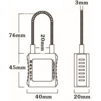Quality 76mm Cable Safety Padlock 45mm*40mm*20mm wholesale