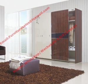 Cheap Apartment interior project Custom Furniture Modern Wooden Sliding door Wardrobe closet for sale