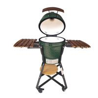 China Pedestal Outdoor Kamado Bbq Grill Green Color With Easily Assembled on sale