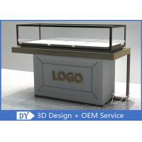 Quality Half Stain Steel Frame Glass Jewelry Display Case With Custom Logo wholesale