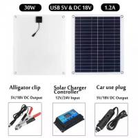 Quality Small 30W Portable Folding Solar Panel Kits , Solar Energy Panels With Controller wholesale