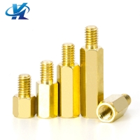 China Brass Hex Screw Bolt With Internal Thread, Brass Male and Female Screw Bolt,Brass Standoffs on sale