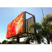 Quality P10 Outdoor Led Digital Billboards High Resolution Full Color Real Pixels wholesale