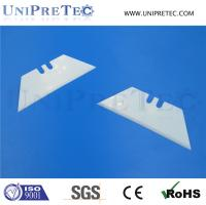 Cheap Zirconia ZrO2 Ceramic Tripezoid Blade/Ceramic Utility Cutting Blade for sale