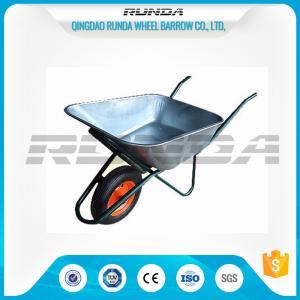 Quality Household Heavy Duty Galvanised Wheelbarrow 75 Litre Single Wheel Steel Handle wholesale