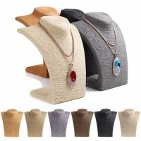 Quality Russian Style Necklace Mannequin Stand 6 Colors Large Rope Wrapped Necklace Display wholesale
