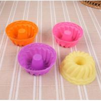 Cheap Screw Shape Silicone Cupcake Molds Kids Favorable Eco Friendly Freezer Safe for sale