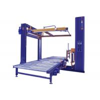 Quality PLC Control Robot Pallet Wrapping Machine Pallet Wrapper With Top Sheet Dispenser wholesale