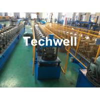 Quality Forming Material PPGI , Aluminum Gutter Roll Forming Machine With Forming Speed 0-15m/min wholesale
