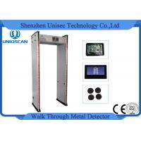 Quality 33 Zones Walk Through Metal Detector Security Check Gate 999 Sensitivity Body Scanner wholesale
