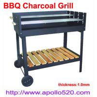 China BBQ Charcoal Grill with trolley on sale