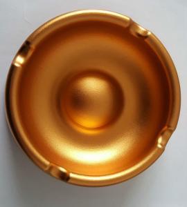 Quality Custom Golden Anodized CNC Machining Parts Aluminum Ashtray Commodity wholesale