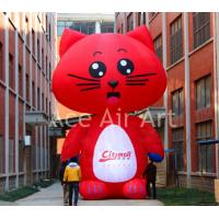 Cheap advertising decoration red inflatable cat for sale
