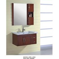 Cheap 16mm oak Material Solid Wood Bathroom Cabinet small 100 X 46 / cm Brass handles for sale