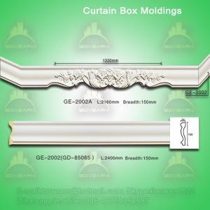 Quality PU curtain box mouldings wholesale