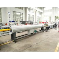 Quality Plastic HDPE PP Water Gas Pipe Making Machine With PLC Controlling wholesale