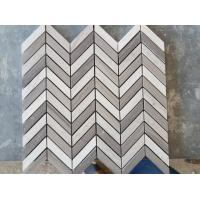 Quality White Arrows Marble Mosaic Tile For Hotel / Restaurant Bathroom Wall wholesale