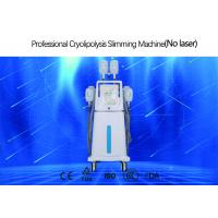 China 4 Handles Cryolipolysis Fat Freezing Machine With Silica Gel Head CE Certificated on sale