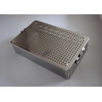 Quality 48x25x6cm Medical Basket Wire Mesh Baskets 1mm Thickness 5mm Hole Diameter wholesale
