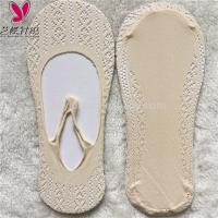 Quality Liner Boat Womens Invisible Socks With Floral Lace OEM Service Custom Logo wholesale