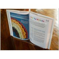 Quality Light Weight Acrylic Menu Holder , Clear Acrylic Cookbook Holder With No Toxicity wholesale