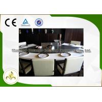 Quality 9 Seat Fan Shape Gas Teppanyaki Grill Table With Exhaustion / Purification System wholesale