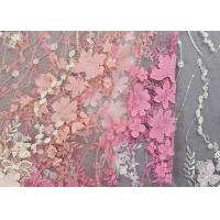 Quality Colourful Lace Material For Dressmaking / Embroidered Sequin Fabric SGS Approval wholesale